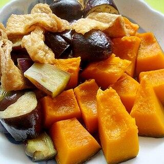 かぼちゃと茄子油揚げの煮物