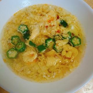 オクラと卵の酸辣湯