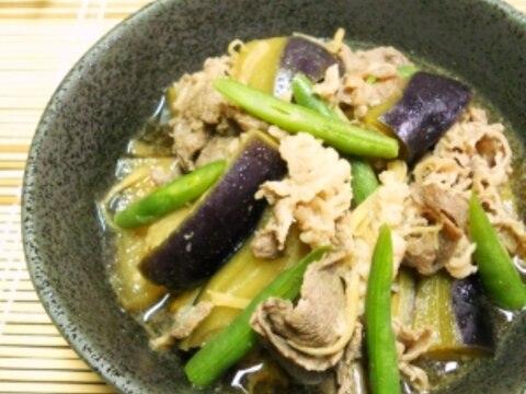 牛肉と茄子のサッと煮