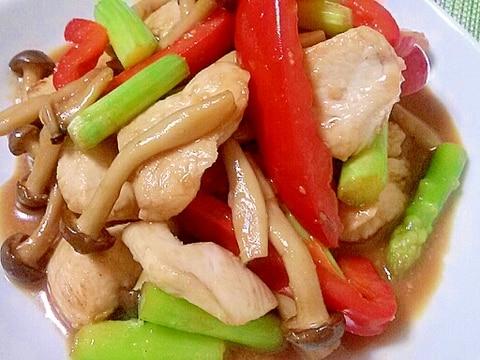 鶏むね肉の柔らかオイスター味噌炒め