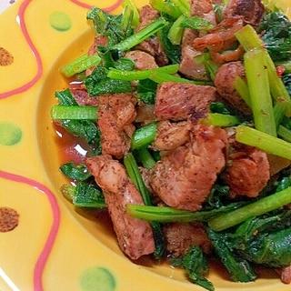 焼肉のたれで簡単✿牛バラ肉と小松菜の炒め物❤