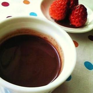 板チョコをレンジで☆チョコソース