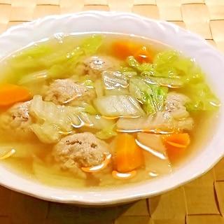 普通の肉団子スープ