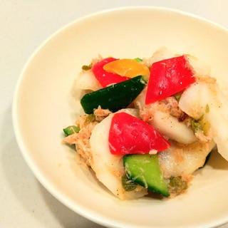 鮭ハラスとゴロゴロ野菜のマリネ