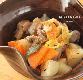 長芋と牛肉の味噌煮込み
