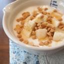 メープルバナナキャラメルチョコヨーグルト☆