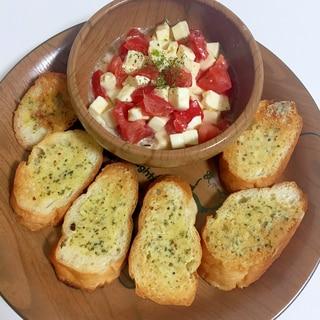 トマトとモッツァレラチーズのブルスケッタ