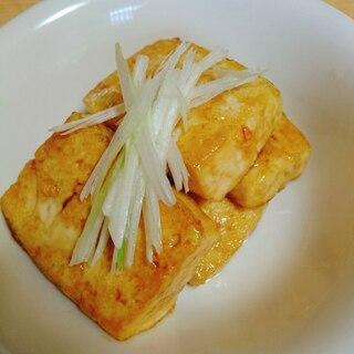 豆腐の甘辛ステーキ