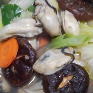 モランボン牡蠣鍋用スープで牡蠣鍋