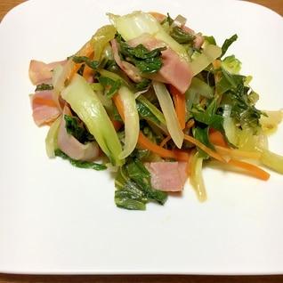 【中華ごま】青梗菜とベーコン炒め