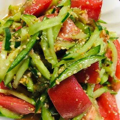 トマトときゅうりの中華和え
