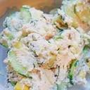 おからdeヘルシー☆タラコ&海苔のふんわりサラダ