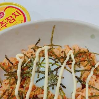 韓国の定番コストコで買った唐辛子ツナdeチャーハン