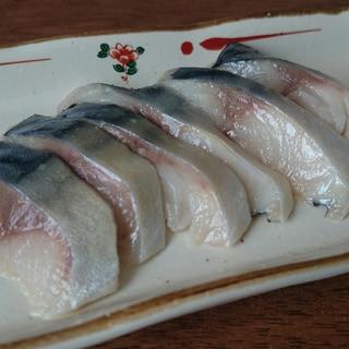 昆布茶で簡単しめ鯖