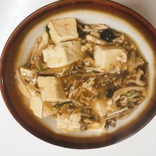 豆腐ときのこのそぼろあんかけ丼