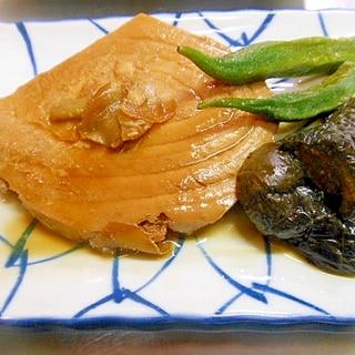 めんつゆで簡単☆かじきと茄子、オクラ煮つけ☆
