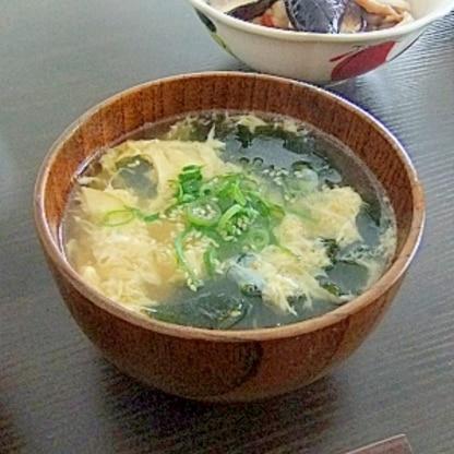 ワカメ入り★ふんわり卵の中華風かきたま汁
