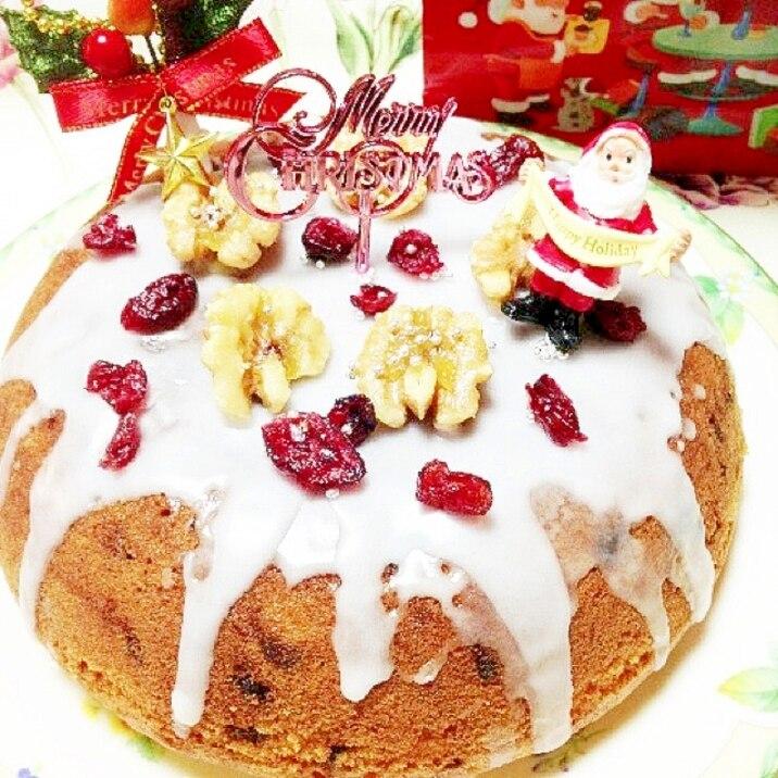 炊飯器で、クリスマス用パウンドケーキ
