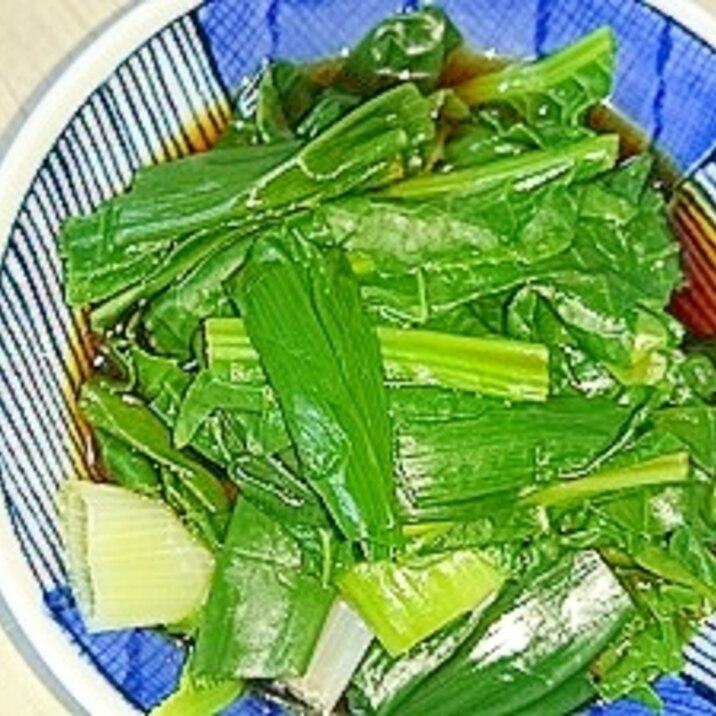 野沢菜と長ネギのホタテだし醬油和え