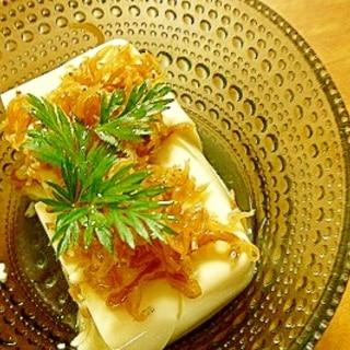 簡単おつまみ☆ちりめん山椒豆腐♪