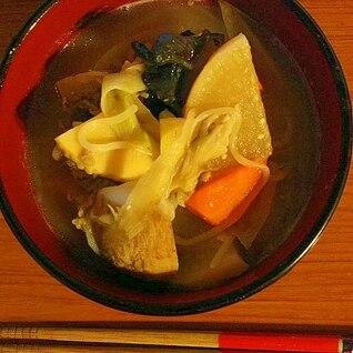 牛芋煮の味噌仕立て
