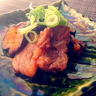 茄子と牛肉の炒めもの