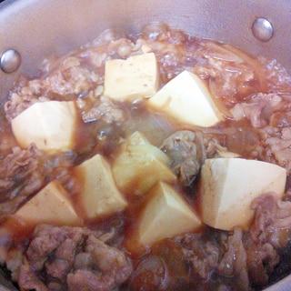 牛バラ肉で★居酒屋風肉豆腐
