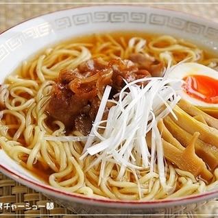 豚バラ薄切り肉で簡単☆即席チャーシュー麺