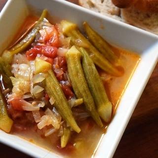 トルコ料理★オクラのオリーブオイル煮
