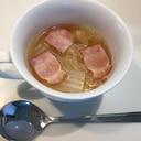 白菜とベーコンの簡単スープ