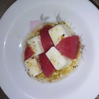 豆腐とトマトサラダ(イタリアンドレッシング)
