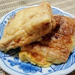 オーブントースターで簡単♪ 油揚げの納豆詰め