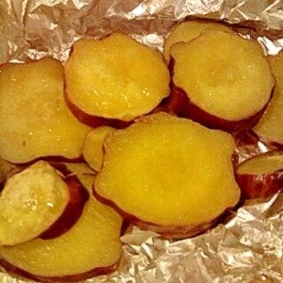 オーブントースターでホクホク♪さつま芋のホイル焼き