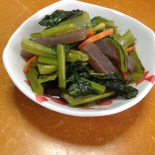 小松菜とこんにゃくの麺つゆ煮(*^^*)★