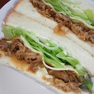 豚肉サンドイッチ