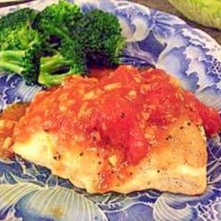 手作りトマトソースで☆絶品!柔らか鶏むね肉ソテー