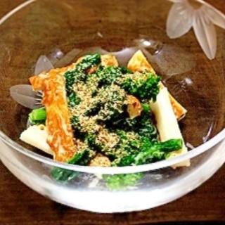 春のおつまみ!菜の花のからし酢味噌マヨネーズ和え