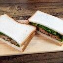 ♪残ったハンバーグでボリュームサンドイッチ♪