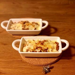 里芋とひき肉のチーズ焼き