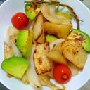 ポテトとアボカドの炒め物