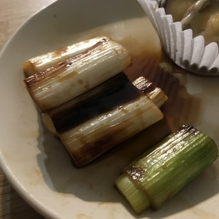 白ねぎの甘辛焼き