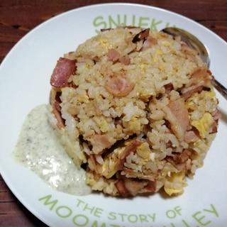 乾麺の粉末調味料で作る!大盛りチャーハン
