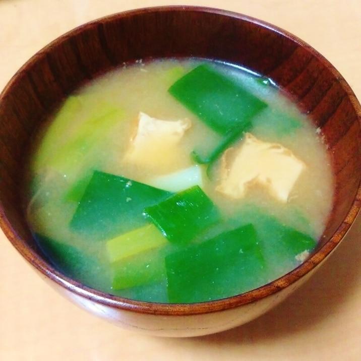 味噌汁 ネギ