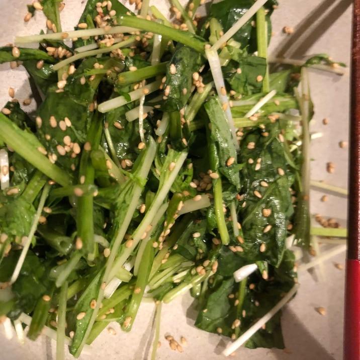 簡単!ほうれん草と水菜のおひたし!