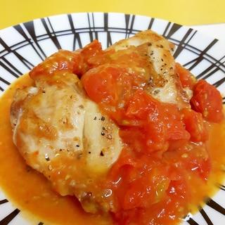 簡単!鶏もも肉のソテー(^^)プチトマトソース♪