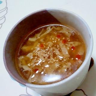 キャベツだけの酸辣湯スープ++