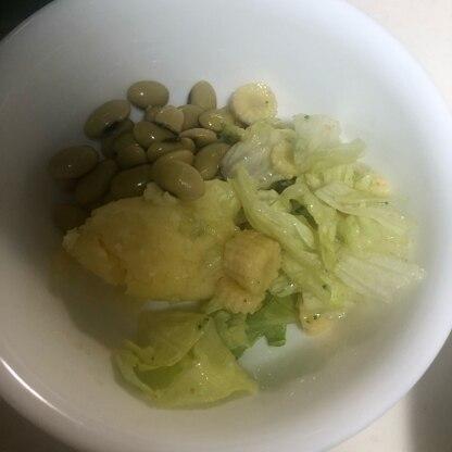 普段サラダを食べない家族が、美味しい美味しい!と完食(๑>◡<๑)素敵なレシピありがとうございます!ご馳走様でした♪