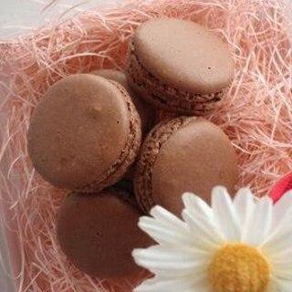 チョコレートのガナッシュ マカロンに♪