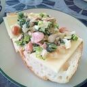 小松菜ソーセージの簡単サンドイッチ