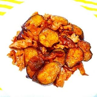味付け簡単すぎるっ!!!茄子と豚肉の味噌炒め♡